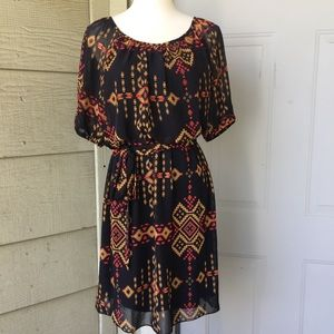 NWOT Enfocus Studio Aztec Pattern Dress